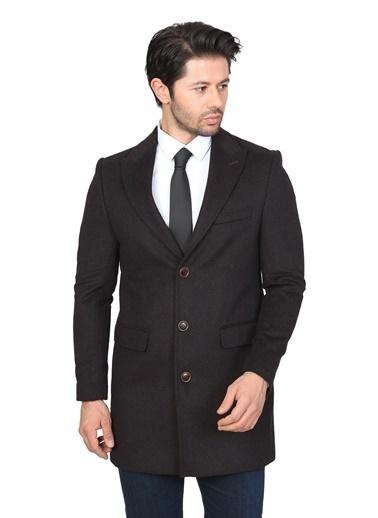 White Stone S.Kaşmir Regular Palto Siyah Kahve